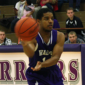 Waldorf's Trey Scott (above) scored a career-high 36 points in Saturday's 82-74 loss to No. 9 Bellevue.
