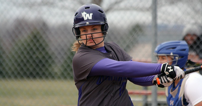 Waldorf's Maggie Eden (above) collected two hits during Friday's doubleheader against Valley City State.