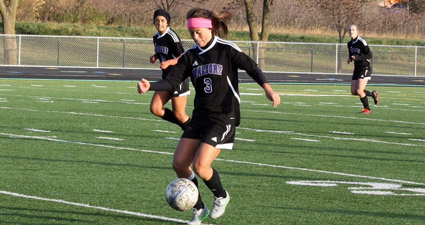 Waldorf�s Brittney Thornton (above) provided a shot on goal in Saturday�s 1-0 road loss to Jamestown.