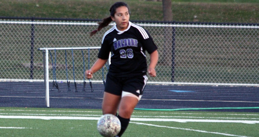 Stephanie Frias (above) accounted for one of Waldorf�s five shots on goal in a 6-0 loss to Jamestown during Thursday�s NSAA T