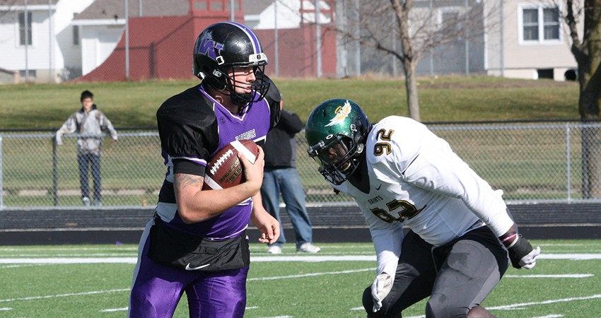 Waldorf's Cody Smith (left) passed for 148 yards and three touchdowns in Saturday's 28-14 win over Presentation.