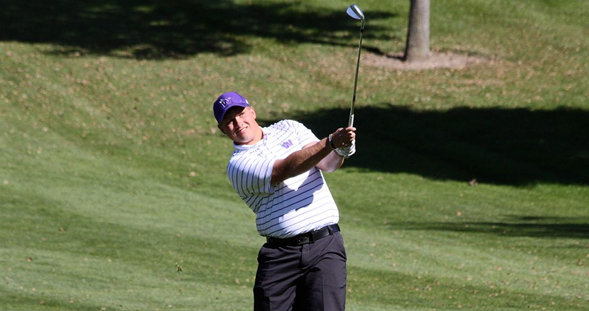Thomas O�Rourke (above) led Waldorf, tying for 24th with a 159 in this weekend�s Graceland Invitational.