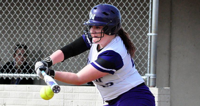 Waldorf's Hattie Hupke (above) finished 6-for-9 with two RBIs in Saturday's doubleheader against Mayville State.