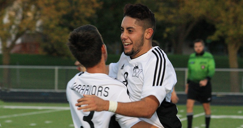 Waldorf's Cristian Alvarez (right) scored three goals and Victor Leao (left) added an assist in Saturday's 16-0 win.