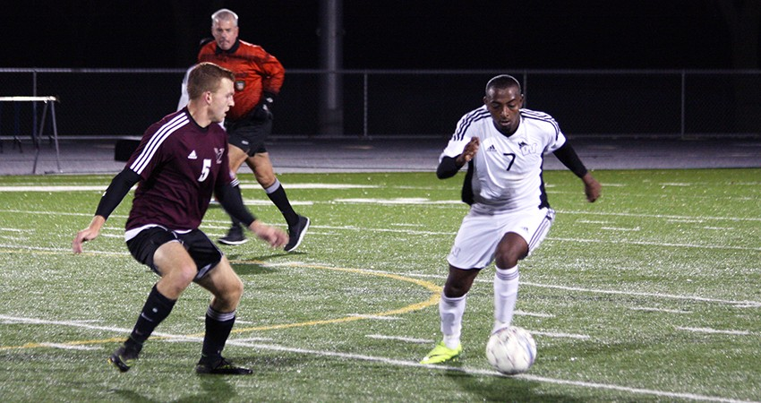 Waldorf's Jean Bonnin (right) scored a goal in Wednesday's 4-0 win over Viterbo.