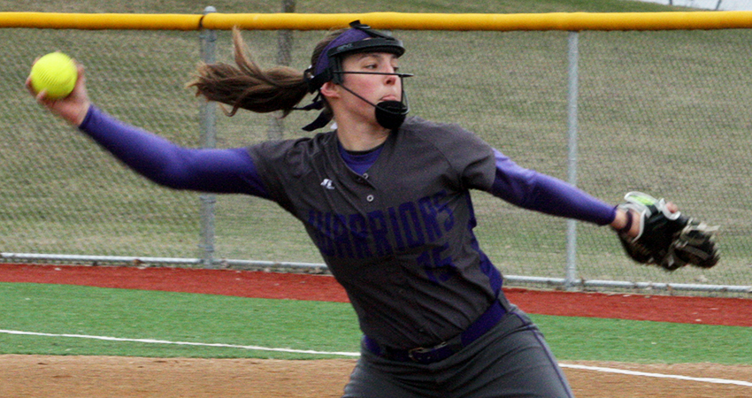 Waldorf's Kaylie Brindley (above) struck out six batters in Tuesday's 4-1 win over Dordt.