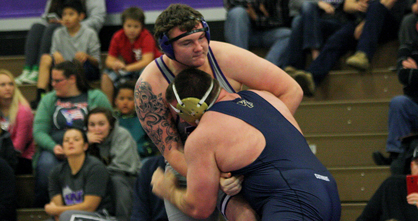 Waldorf's Dallas Knoop (above) earned sixth place at 285 pounds during Saturday's Worthington Open.