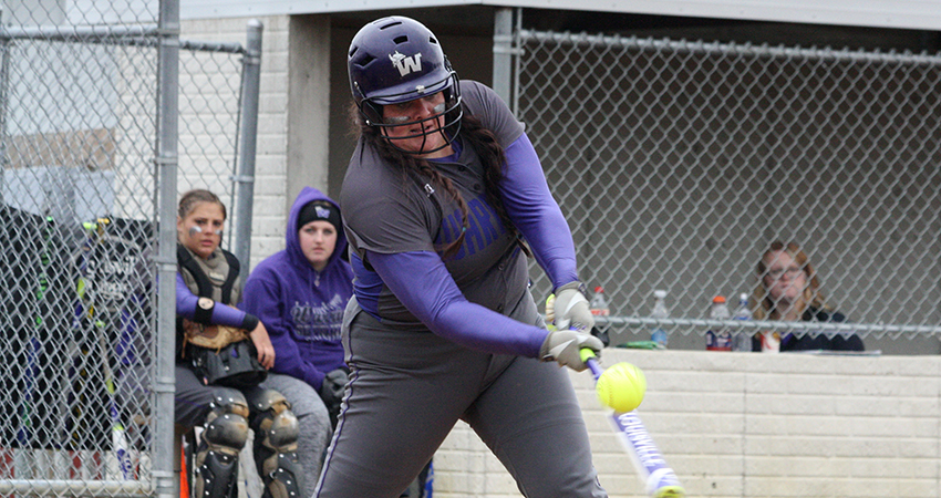 Waldorf's Payge Jurgens (above) finished 4-for-5 with five RBIs in Wednesday's doubleheader against Viterbo.