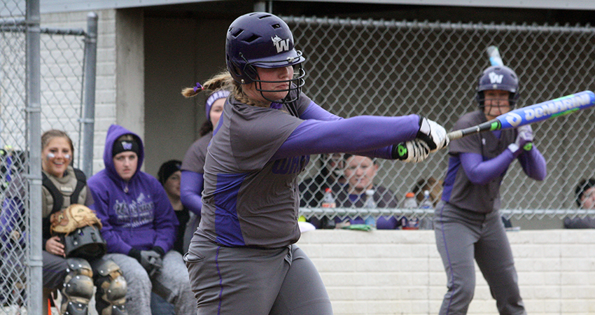 Waldorf's Madison Mason (above) finished 2-for-2 during Friday's 8-1 loss to Mayville State.