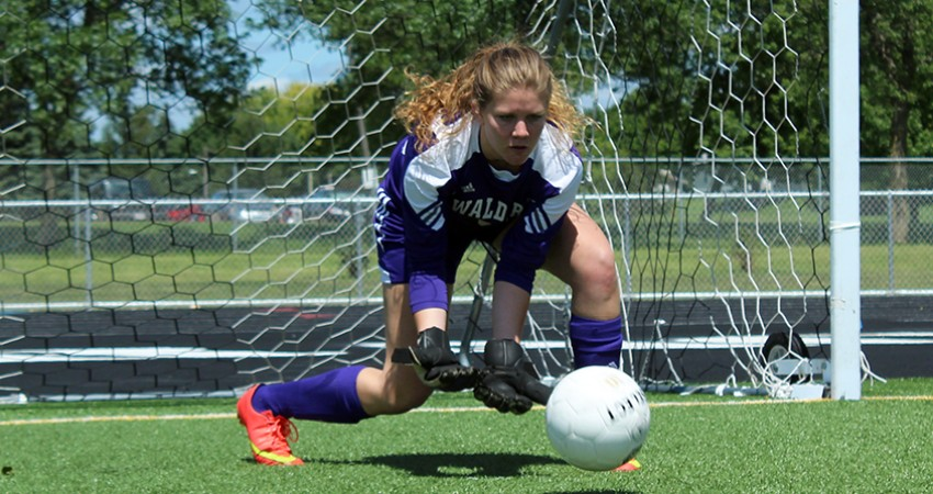 Waldorf's Hanna DeVries (above) was named the NSAA Defensive Player of the Week for the third straight week on Tuesday.