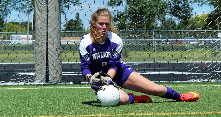 Waldorf's Hanna DeVries (above) earned NSAA Defensive-Player-of-the-Week honors for the second straight week on Tuesday.