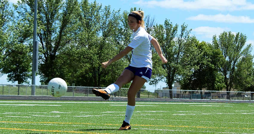Waldorf�s Kaitlyn Rockwell (above) turned in a shot on goal during Sunday�s 2-0 loss to Briar Cliff.