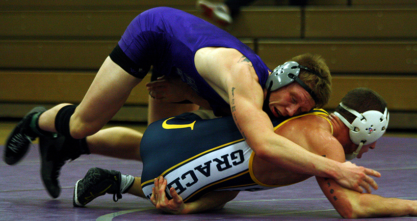 Austin Roys (above) was one of eight Waldorf wrestlers to compete in this weekend's Missouri Valley Invitational.