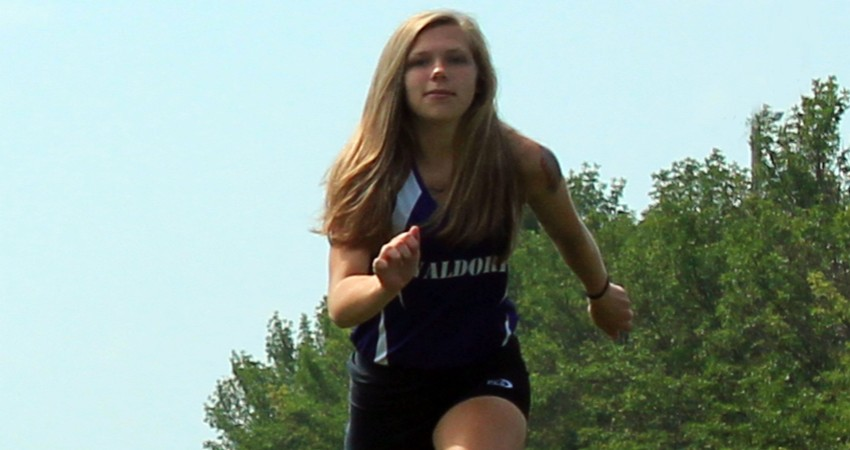 Marissa Kuik (above) led Waldorf with a fifth-place finish in Friday�s Viterbo Night Flight.