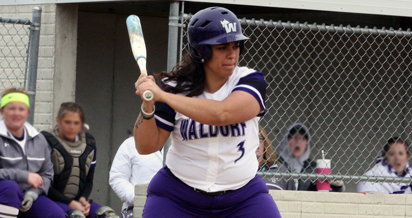 Waldorf's Mattea Lovato (above) turned in a single during Saturday's 7-2 loss to No. 25 Bellevue.