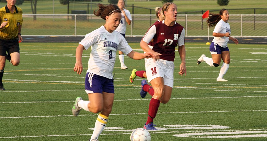 Waldorf�s Brittney Thornton (above) scored her sixth goal of the season in Saturday�s 4-2 loss to Morningside.