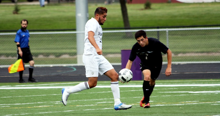 Cristian Alvarez (left) led Waldorf with two goals in Friday's 3-1 postseason win over Jamestown.