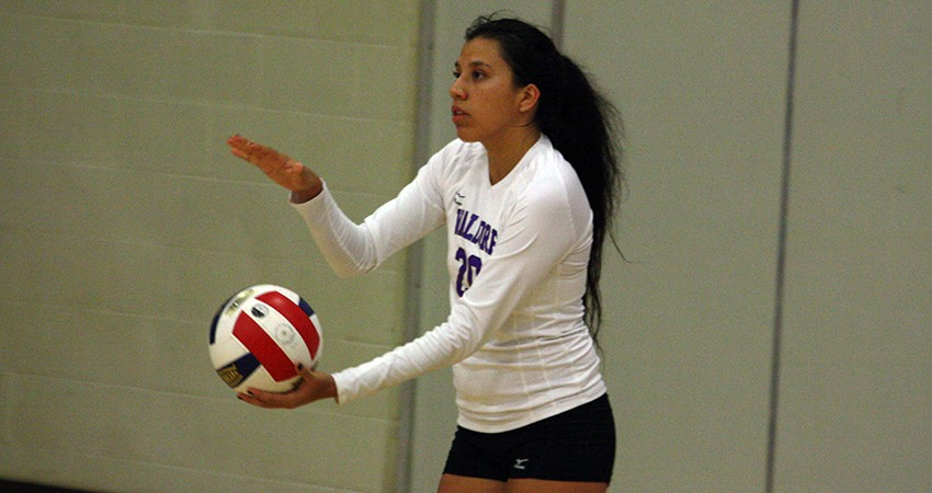 Valerie Rivera (above) led Waldorf with nine assists in Saturday�s three-set loss to No. 20 Concordia.