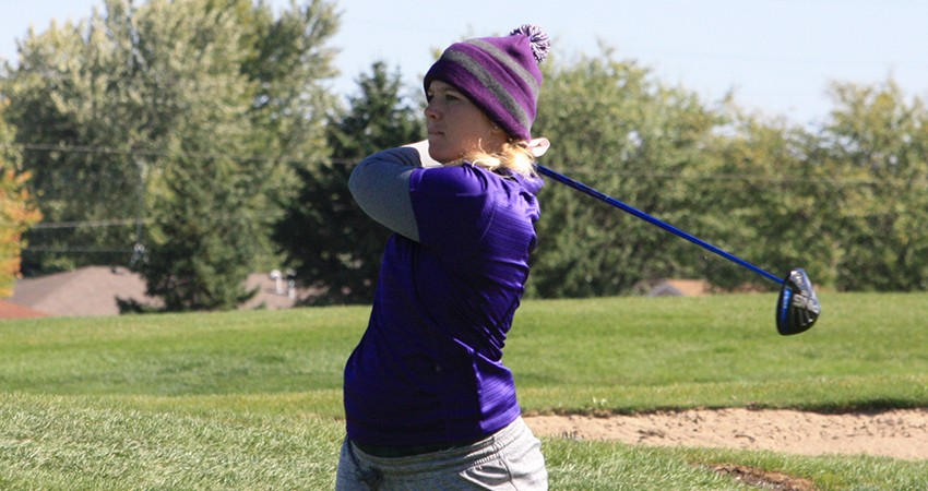 Waldorf's Maggie Peters is tied for 10th with an 88 after Day 1 of the NSAA Championships on Monday.