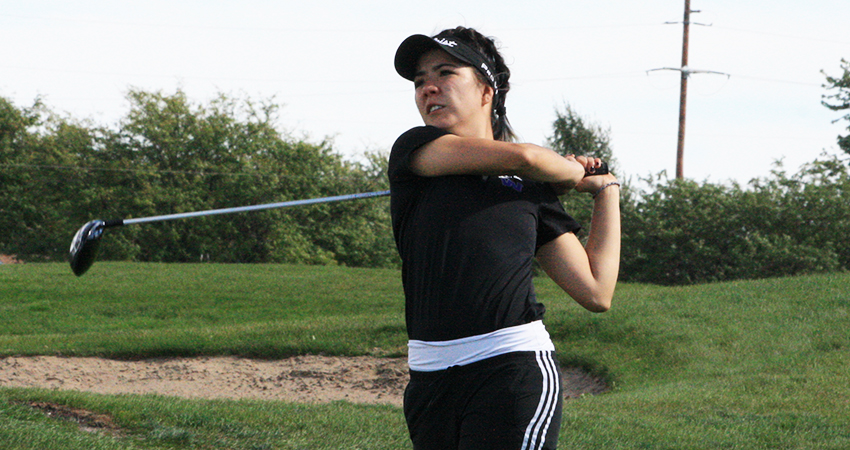 Waldorf's Fernanda Valdes (above) tied for fourth with a 165 in the fall NSAA Championships.