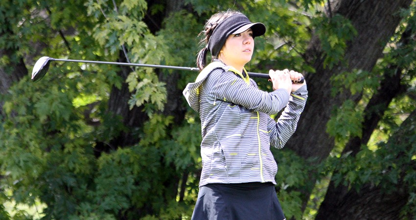 Waldorf's Fernanda Valdes (above) tied for 14th with 163 strokes in this weekend's CSB Invitational.