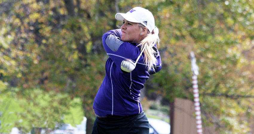 Waldorf's Maggie Peters (above) won Monday's NIACC Fall Invitational with a 75-stroke total.