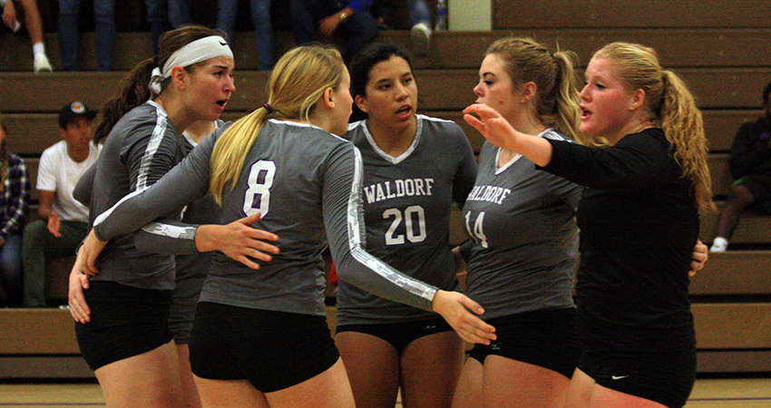Six Waldorf volleyball players were honored as NAIA Scholar-Athletes this season.
