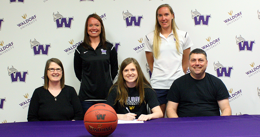 Belle Plaine, Minn. standout Ireland Lambrecht (above) signed with Waldorf on April 23.