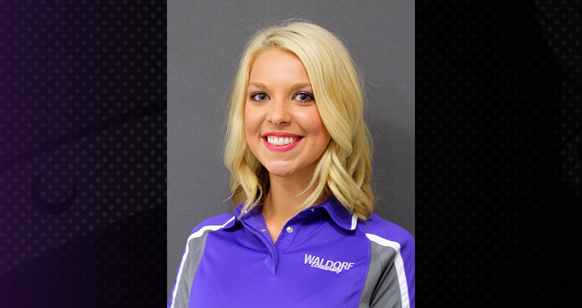 Waldorf announced on Monday that Kalea Wilson (above) has been named interim head coach of the cheerleading program.