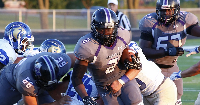 Darryel Bethune (above) led Waldorf with 149 rushing yards and a TD in Saturday's 42-0 win over Trinity Bible.