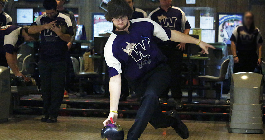 Michael Templin (above) led Waldorf with an 1,165-pin total during Friday's USBC Intercollegiate Singles Sectionals