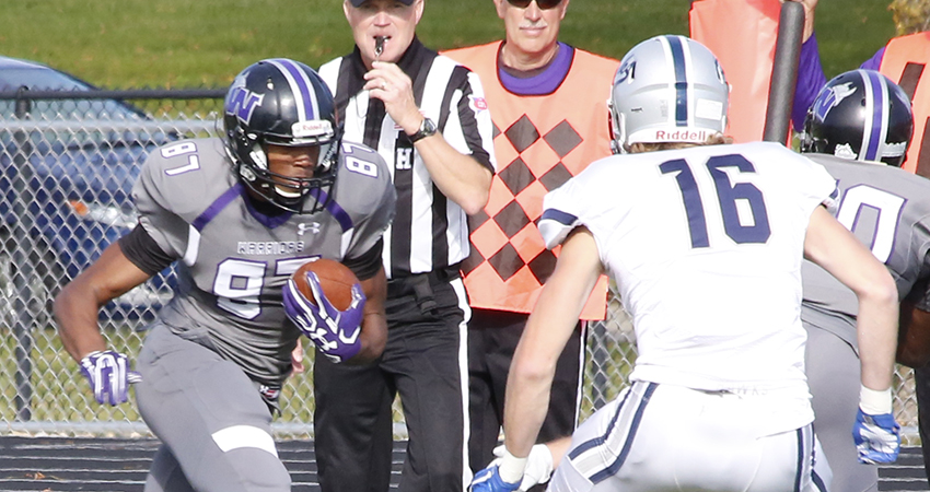 Ja'Ron Kellem led Waldorf with 99 receiving yards and two touchdowns in Saturday's 31-21 loss to Presentation.