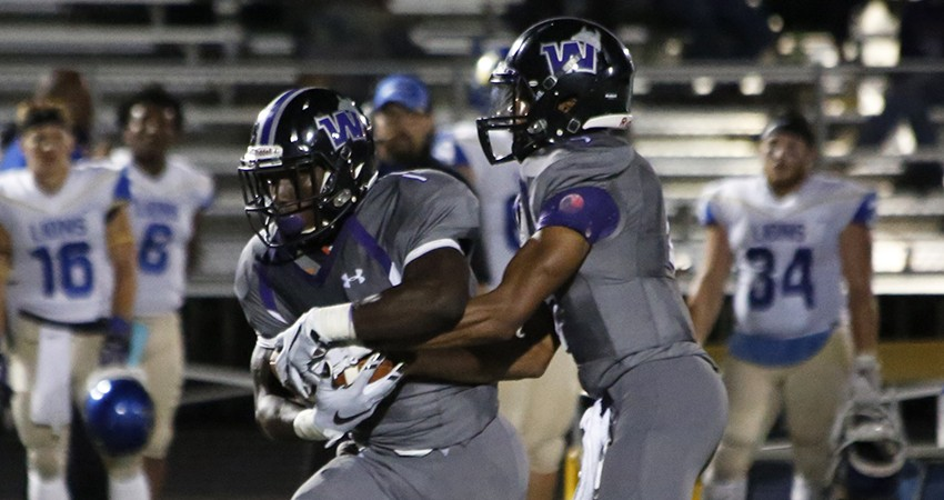 Waldorf's Maliek Stephens (left) rushed for 82 yards and a TD in Saturday's 36-14 loss to Dakota State.