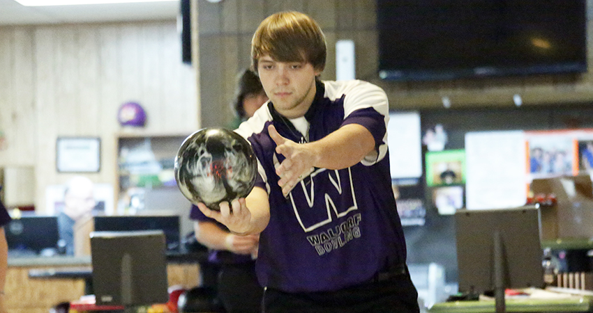 Waldorf's Nicholas Heimerman (above) placed 56th with 1,180 pins in the Las Vegas Collegiate Shoot-Out.
