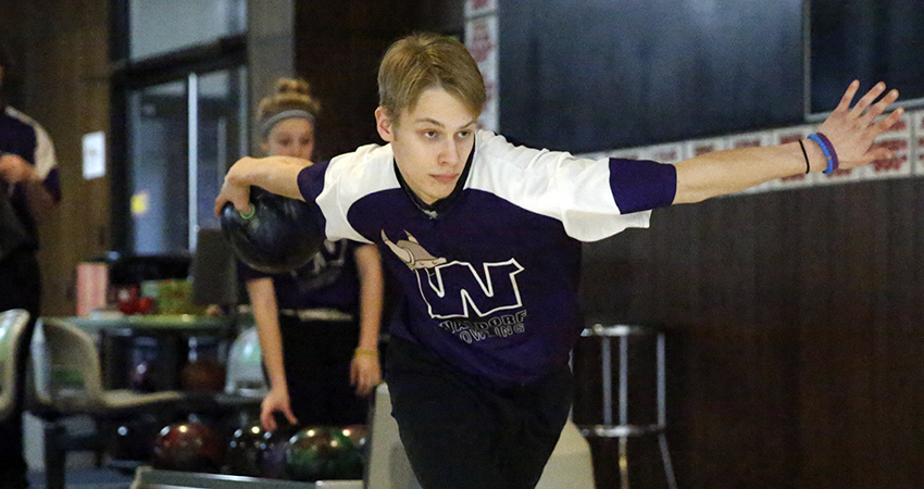 Waldorf's Kyle Swiderski (above) placed 13th with a 1,303 score in the Mustang Invitational.