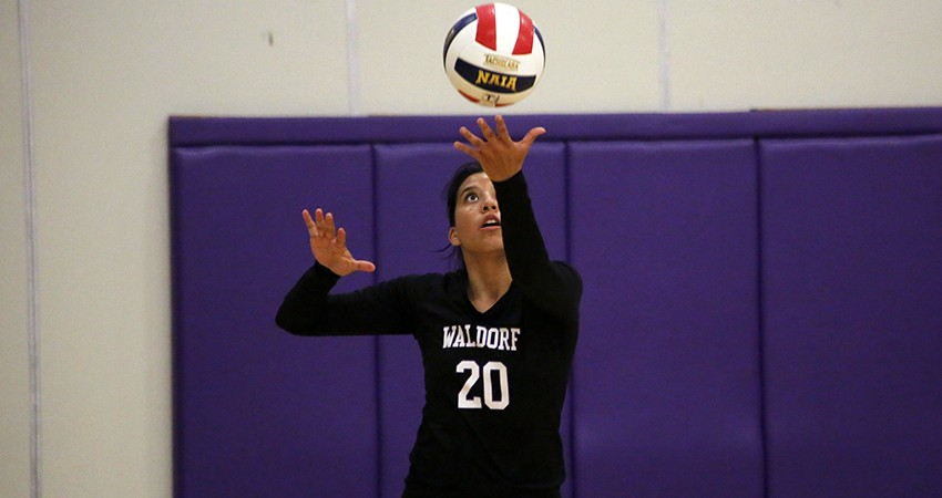 Waldorf's Valerie Rivera (above) moved to fourth all-time in school history in assists on Tuesday.
