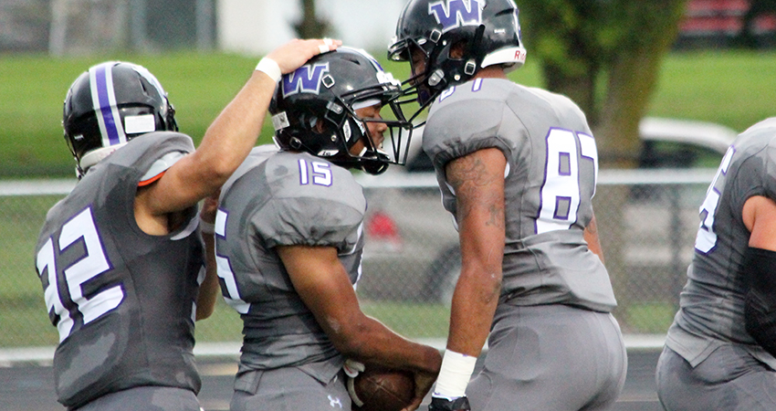 Waldorf's Jeremiah Jackson (center) was named NSAA Defensive Player of the Week on Monday.