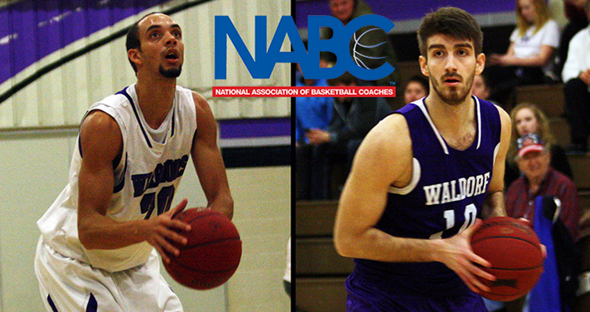 Waldorf's Michael Morgan (left) and Pavle Mihajlovic were named to the NABC Honors Court.