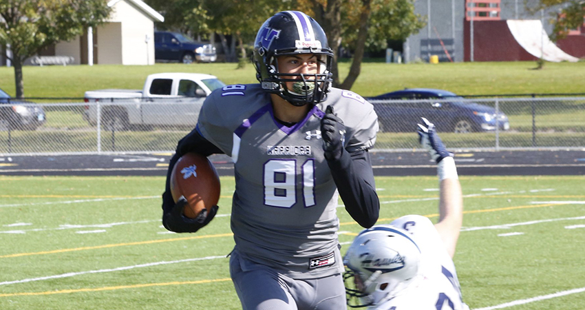 Cameron Newsome (above) returns as one of Waldorf's top wide receivers this season.